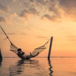 Bali Hammock Sunset Relaxation Asia Indonesia Sun